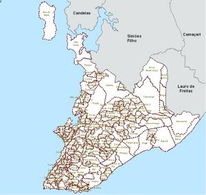 Nova delimitação - 160 bairros e 3 ilhas em Salvador