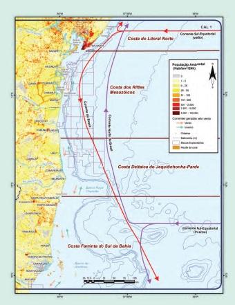 mapa da costa baiana