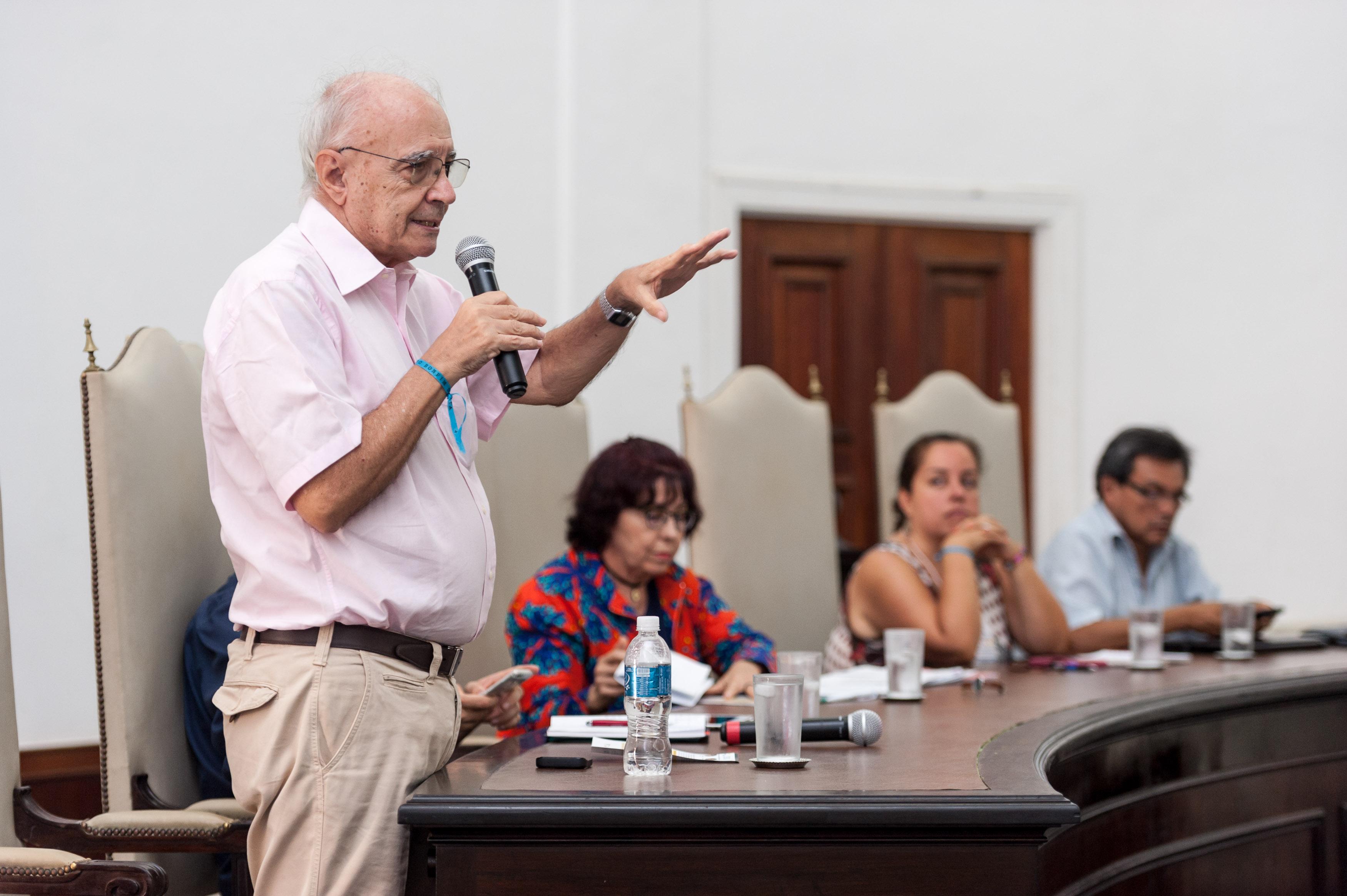 """SALVADOR, BAHIA, BRASIL: 14.03.2018 - FÓRUM SOCIAL MUNDIAL - Na foto, a mesa """"Anticapitalismo na era neoliberal"""".  Foto: João Alvarez"""