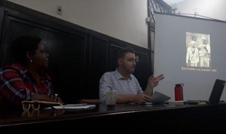 John Andrew Mundell e Jamile Borges em palestra no Ceao