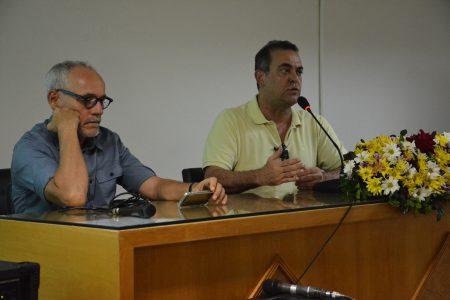 Os professores Carlos Eduardo Martins (UFRJ) e Luiz Filgueiras (UFBA) abordaram a Teoria Marxista da dependência e a situação atual da América Latina