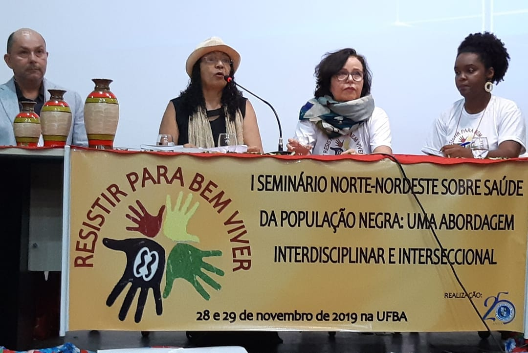 Da esquerda para a direita_ Hilton Pereira da Silva UFPA, Darci Neves  ISC_UFBA, Leny Trad  ISC_UFBA e Joilda Nery ISC_UFBA